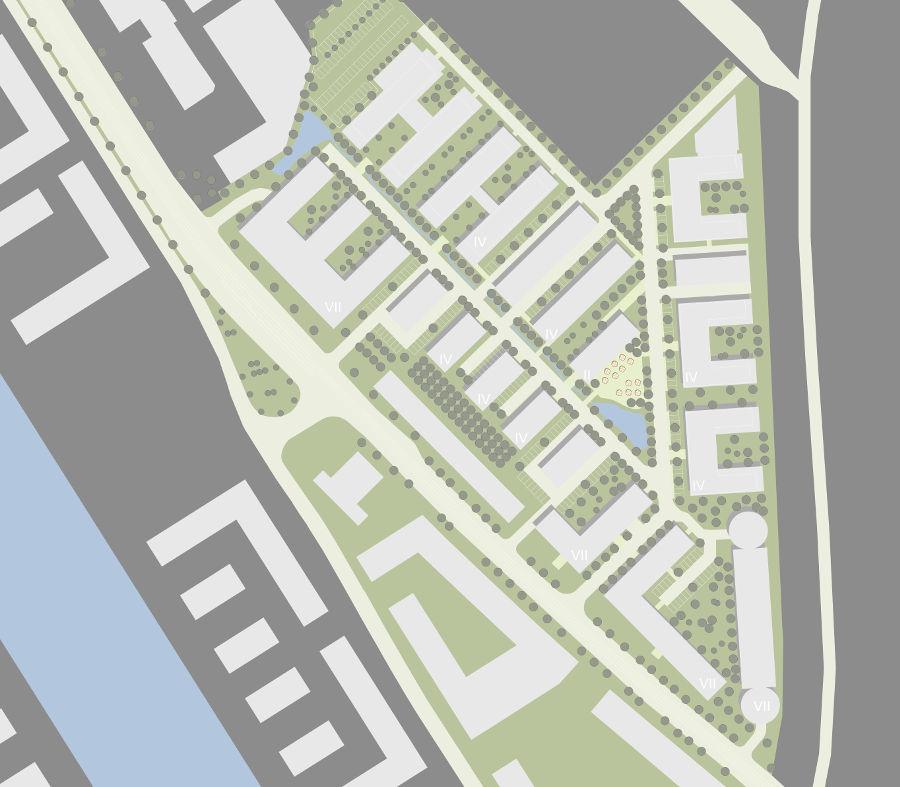 Städtebaulicher Lageplan des Büro Campus Deutz