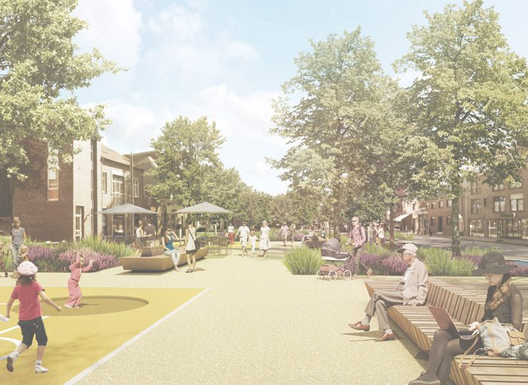 Fußgängerperspektive Wallgärten - Blick nach Süden
