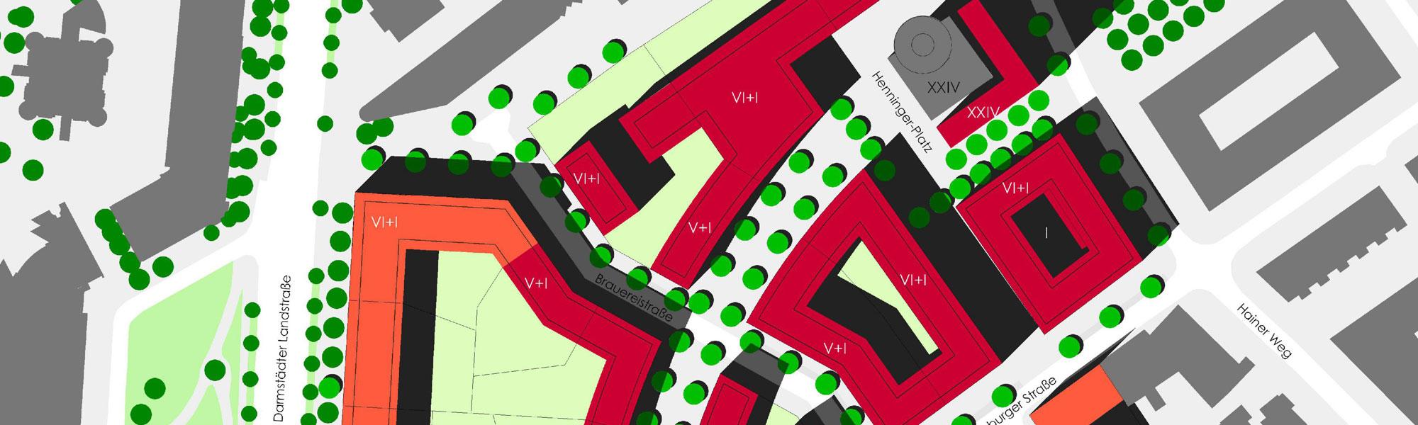Titelbild Binding-Quartier Frankfurt: Ausschnitt Lageplan