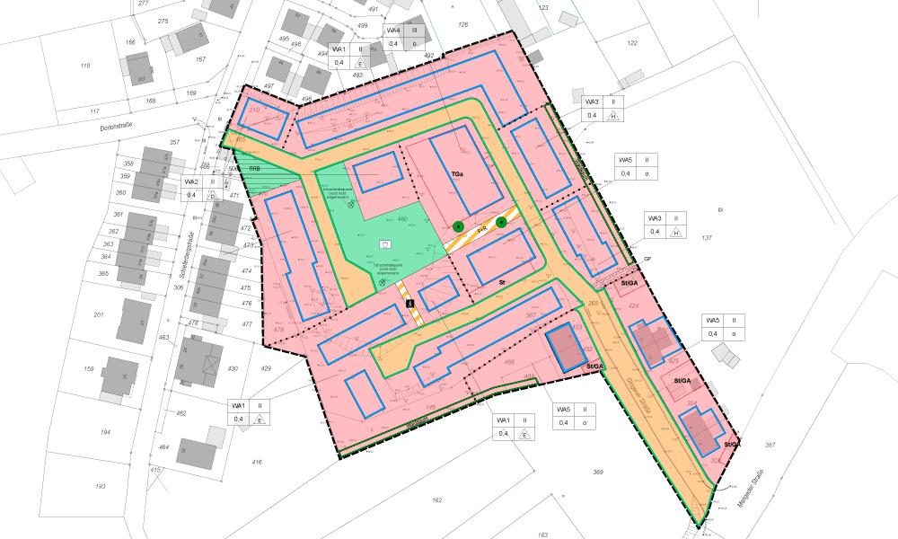 B-Plan-Vorentwurf Dingener Straße Castrop-Rauxel