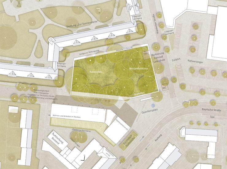 Städtebauliches Konzept Marktplatz Dortmund-Eving - Lageplan