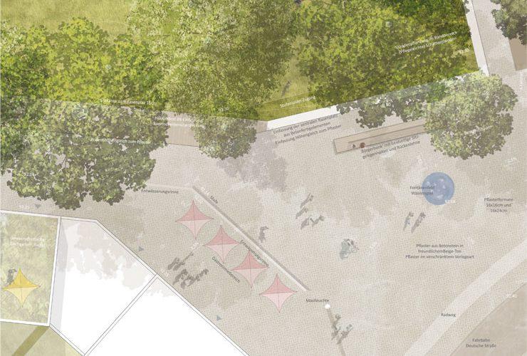 Städtebauliches Konzept Marktplatz Dortmund-Eving - Lageplan Vertiefungsbereich