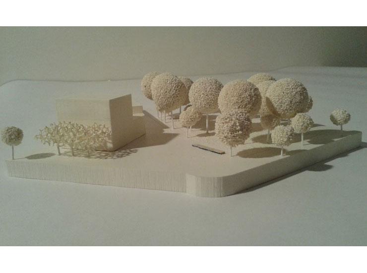 Städtebauliches Konzept Marktplatz Dortmund-Eving - Modellfoto