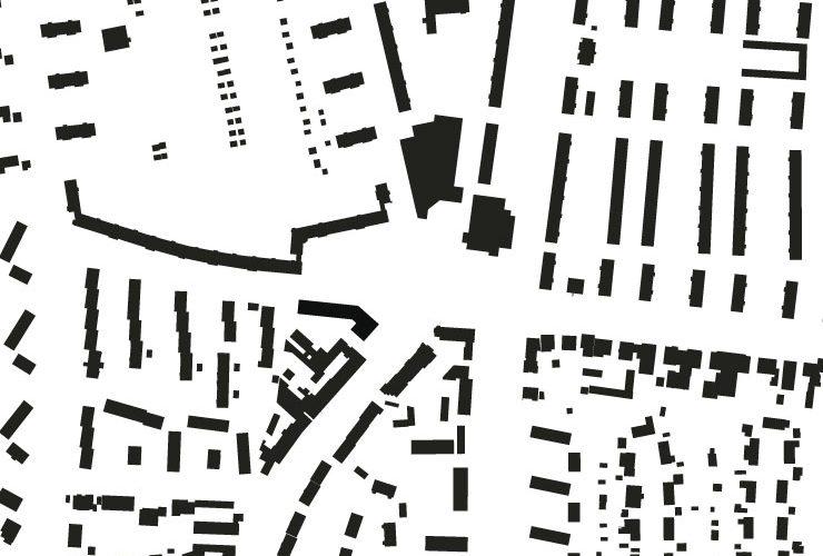Städtebauliches Konzept Marktplatz Dortmund-Eving - Schwarzplan
