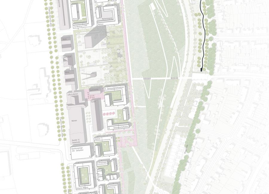 Wettbewerb Kamp-Lintfort: Städtebaulicher Lageplan