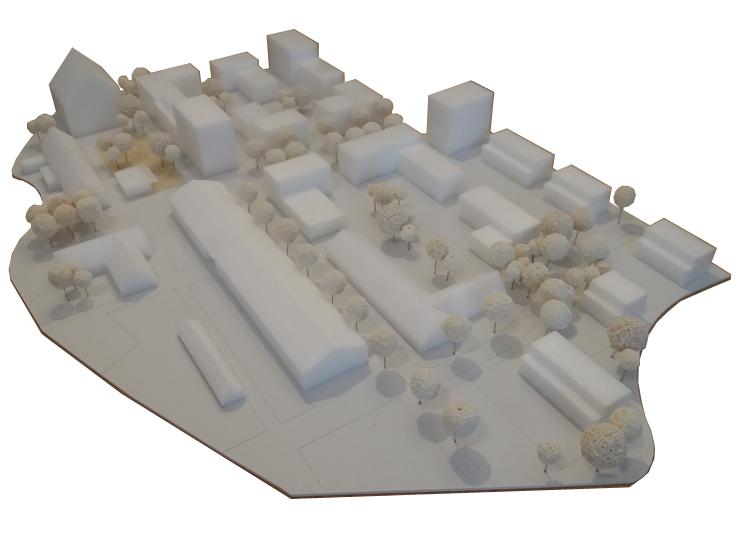 Städtebaulicher Wettbewerb Mannheim Sullivan Süd - Modellfoto