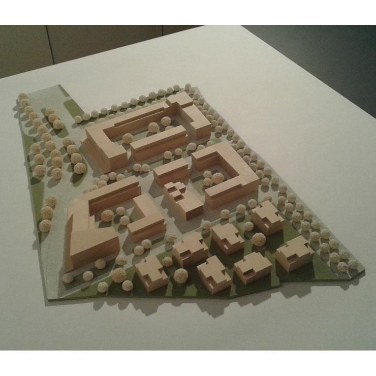 Städtebauliche-freiraumplanerischer Wettbewerb 'Magdeburg, Kleiner Stadtmarsch' - Modellfoto