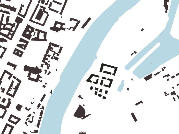 Städtebauliche-freiraumplanerischer Wettbewerb 'Magdeburg, Kleiner Stadtmarsch' - Schwarzplan