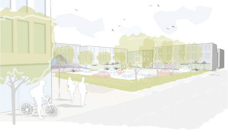 Wettbewerb Willich - Perspektive Stadtplatz