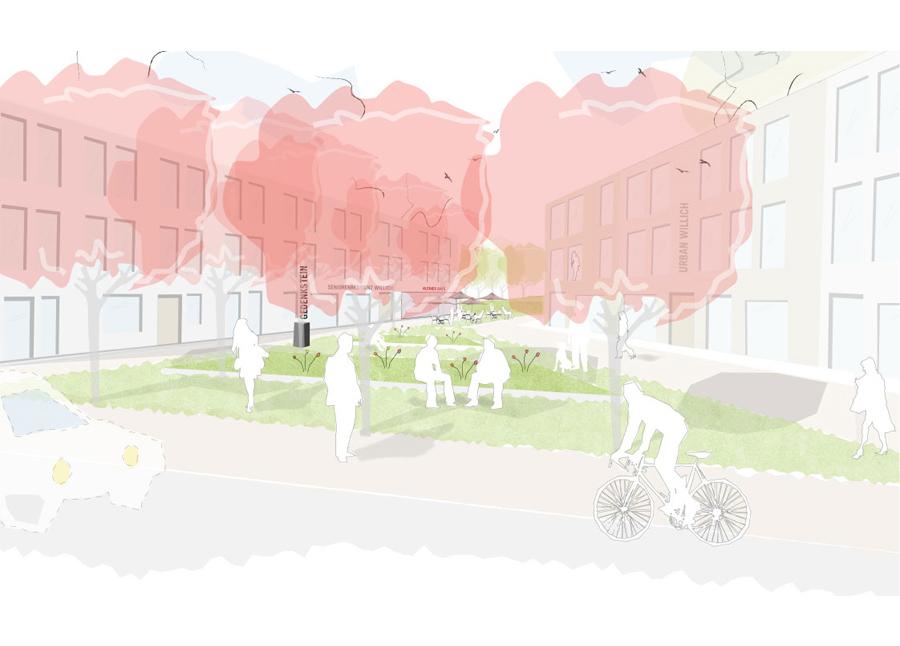 Wettbewerb Willich - Perspektive Quartiersplatz