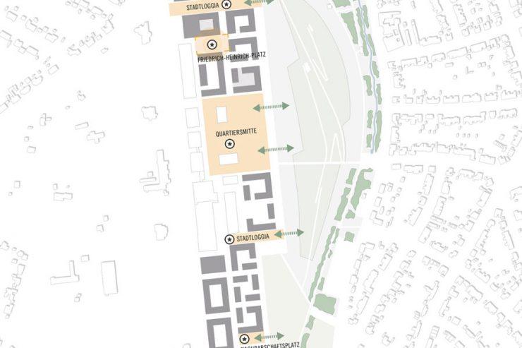 Wettbewerb Kamp-Lintfort: Städtebauliche Einbindung