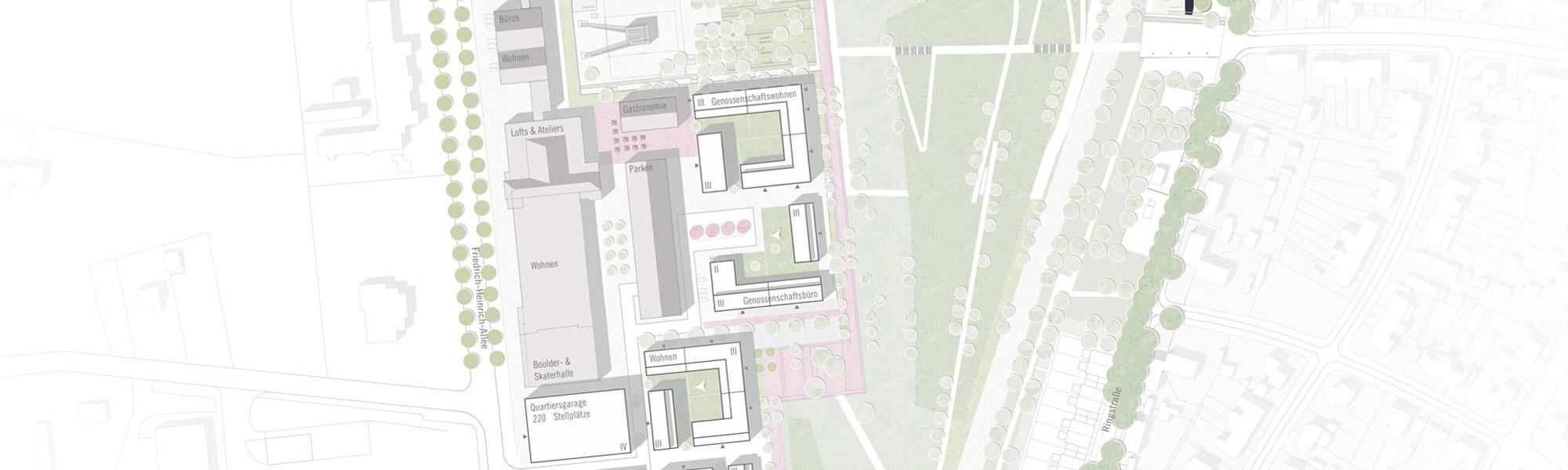 Titelbild Wettbewerb Kamp-Lintfort: Ausschnitt Lageplan