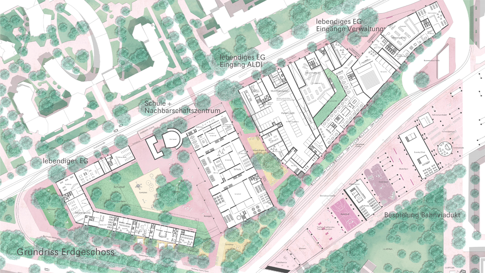 ULAP-Quartier: Grundriss Erdgeschoss