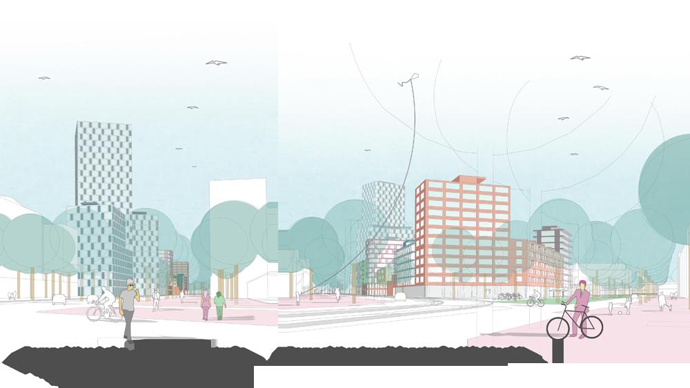 ULAP-Quartier: Fußgängerperspektiven
