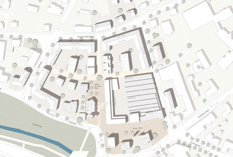 Wettbewerb Bad Hersfeld Wever-Areal - Lageplan