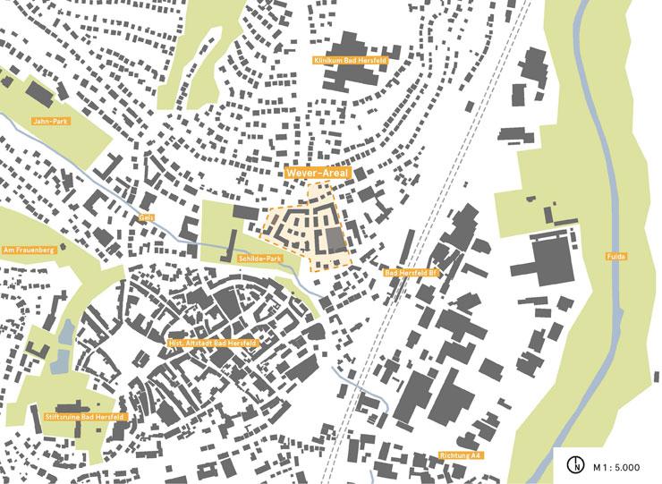 Wettbewerb Bad Hersfeld Wever-Areal - Übersichtsplan